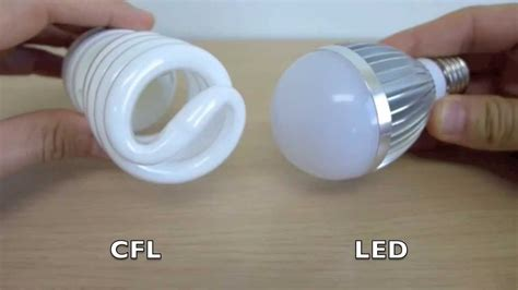 cfl bulbs vs led lights up close series led vs cfl light bulb youtube