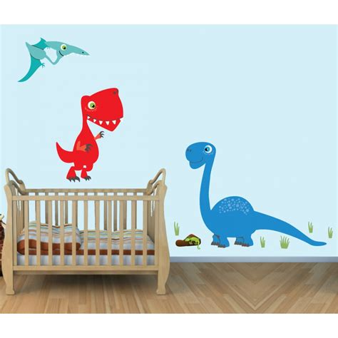 large dinosaur wall stickers colorful large wall decals with dinosaurs wall stickers