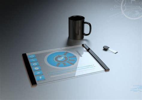 futuristic pet technologies gadgets futuristic minimalistic transparent tablet concept