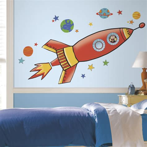 space rocket wall stickers rocket decals space pics about space