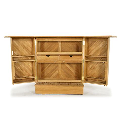 fold down bar cabinet westminister teak somerset 80 quot fold up outdoor bar w