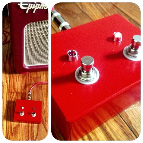 Handmade Footswitch - diy 2 button guitar footswitch for epiphone triggerman 60
