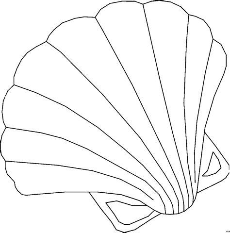 Muschel Vorlagen by Grosse Schoene Muschel Ausmalbild Malvorlage Tiere