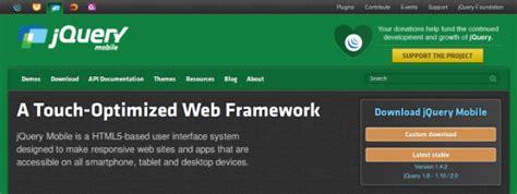 mobile web ui framework top 5 html5 mobile ui frameworks for html5 powered apps