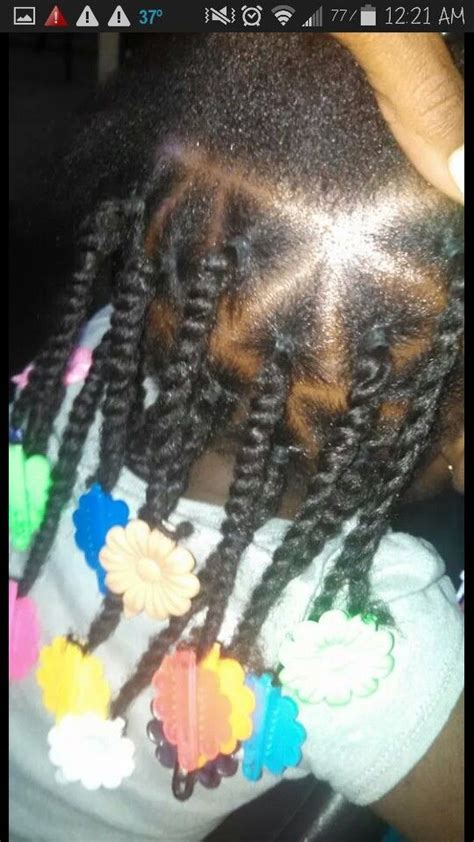 two strand twist parted at an angle 2 strand twist triangle part kinks coils for babies