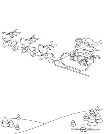 coloring pages of santa and his sleigh santa claus sleigh coloring pages hellokids com