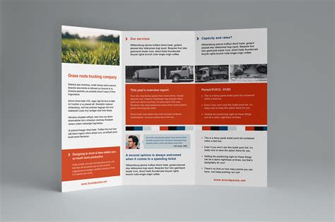 brochure illustrator template free trifold brochure template for photoshop illustrator