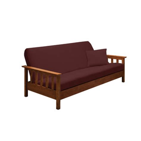 stretch futon cover madison home stretch jersey full futon cover in ruby