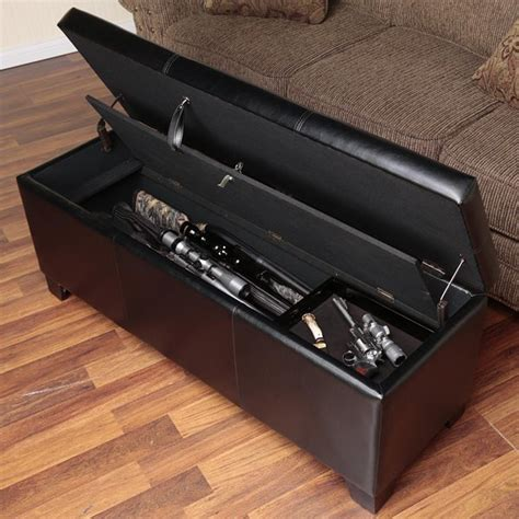 bench gun secret compartments hidden doors secure stashes stashvault