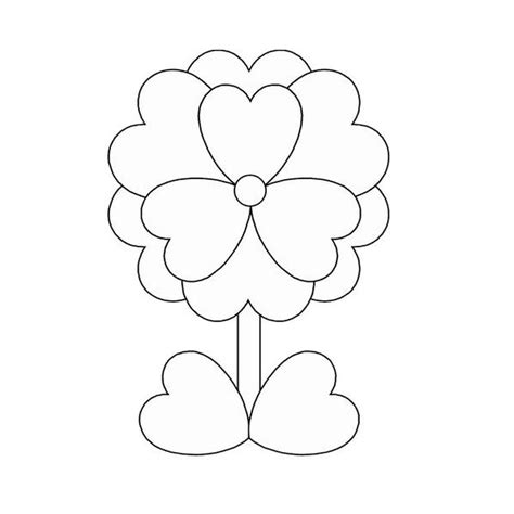 coloring pages flowers hearts dad heart coloring pages freecoloring4u com