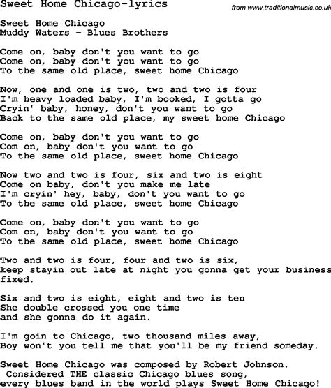 blues guitar lesson for sweet home chicago lyrics with