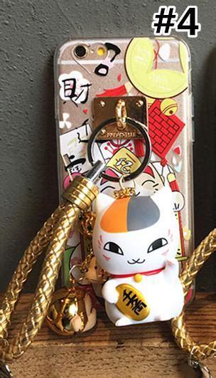 nyanko sensei lucky fortune cat finger ring holder phone case sp spreepicky