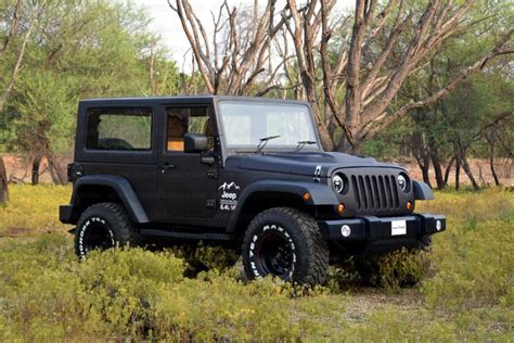 mahindra jeep thar modified mahindra thar customised stunningly into a jeep wrangler