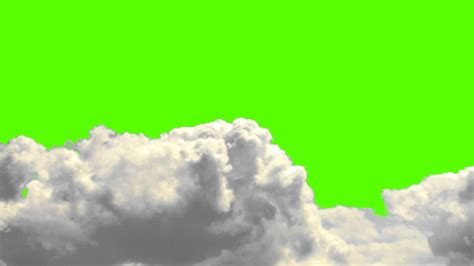 real clouds on a green screen background free royalty