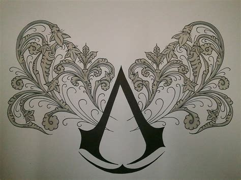assassin tattoo designs assassins creed on assassins creed unity