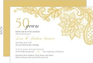 wedding anniversary invitation card maker free 50th wedding anniversary invitations sansalvaje