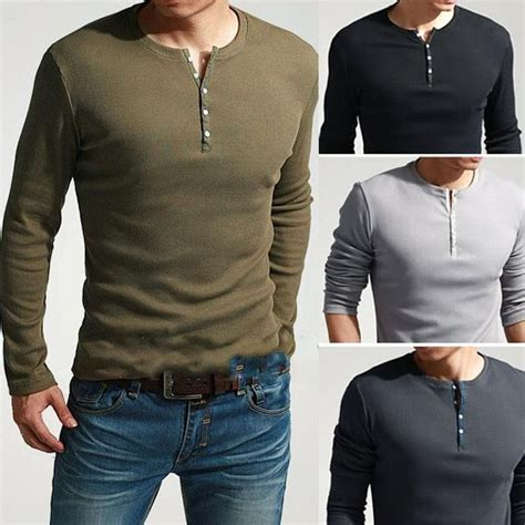 s cool sleeve henley slim fit t shirt
