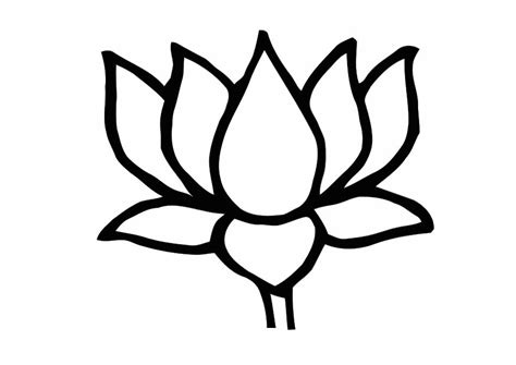 Lotus Black And White Outline by Free Lotus Flower Outline Free Clip Free Clip On Clipart Library