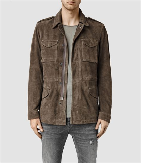 Suede Jacket lyst allsaints hinton suede jacket usa usa in brown for