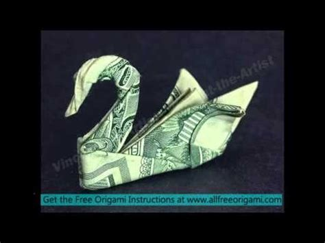 Origami Swan Dollar Bill - best 25 origami swan ideas on origami paper