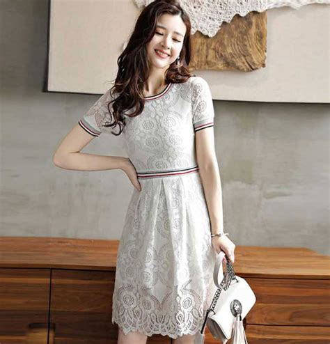 Dress Brokat Premium Import 11 dress berlengan pendek bahan brokat da347