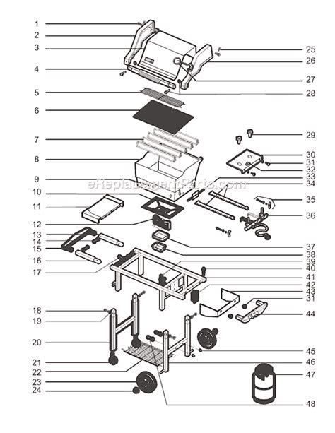 weber genesis parts diagram weber 2271001 parts list and diagram 02 03