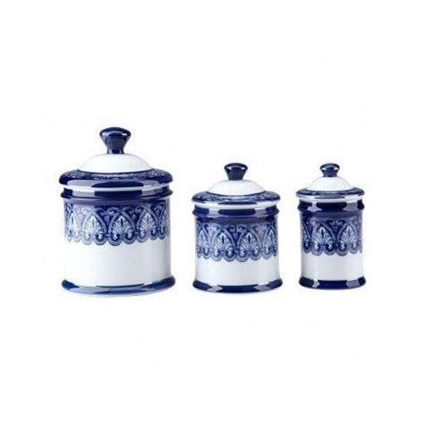 blue kitchen canister set blue canister set porcelain white kitchen storage