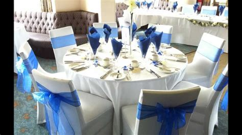 blue themed centerpieces royal blue wedding reception centerpieces party themes