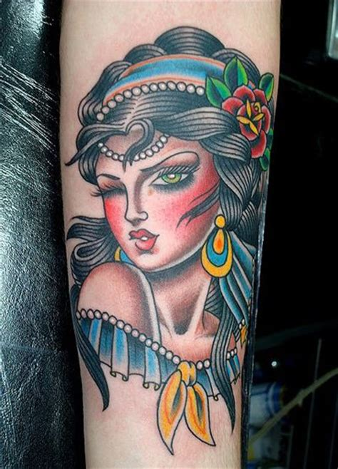 tattoo vargas girl 9 valerie vargas gypsyforearmblue1 tattoo pinterest