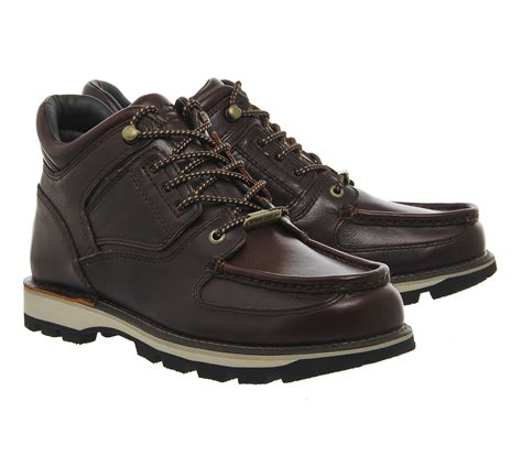 rockport boots rockport umbwe boots in brown for lyst