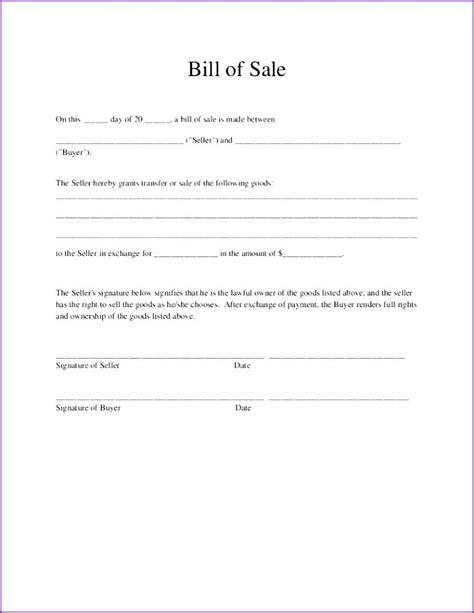 Simple Bill Of Sale For Car Template Vehicle Receipt Basic Form In Illinois Temp Peero Idea Free Bill Of Sale Template Ga