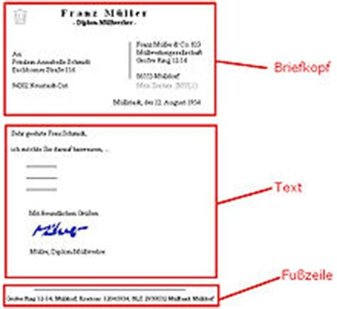 Offizieller Brief Adresskopf Brief