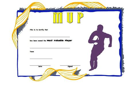 rugby league certificate templates rugby certificate template 5 best 10 templates