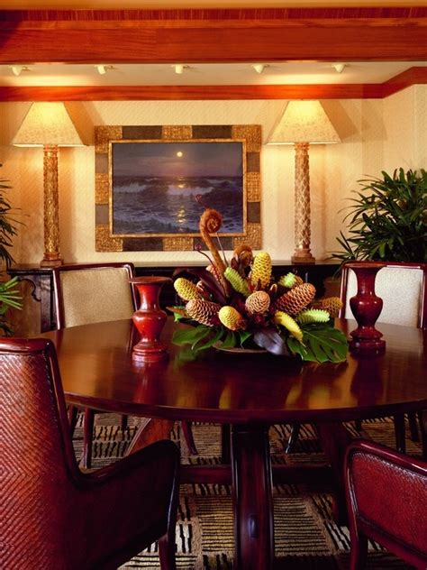 tropical dining rooms images  pinterest