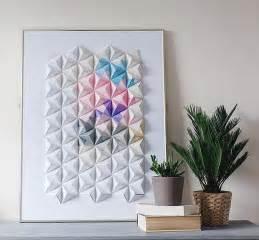 diy design diy origami wall display design sponge