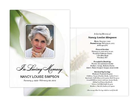 memorial card design templates memorial cards memorial programs and memorial bookmarks