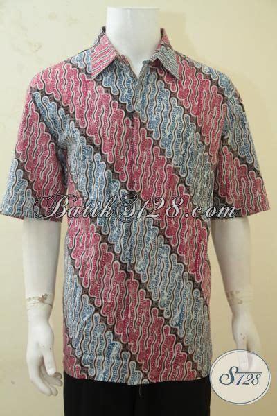 Kemeja Batik Parang Kombinasi K8088 jual kemeja batik parang kombinasi warna biru dan merah