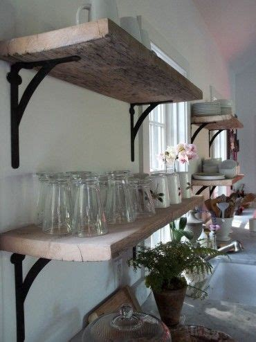 rustic open shelves in the kitchen home decor pinterest