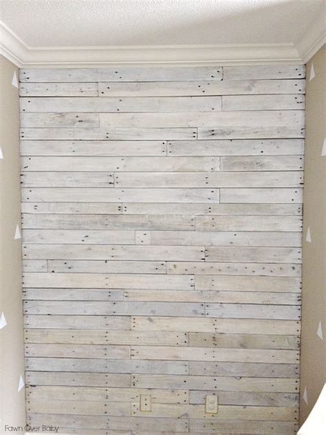 whitewash bathroom fawn over baby diy white washed pallet wall