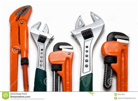 Plumbing Set by Plumbing Wrenches Set Stock Images Image 25547354