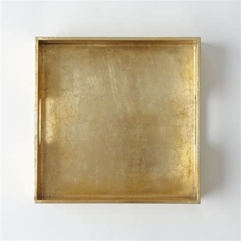 west elm ottoman tray square lacquer tray gold contemporary serving dishes