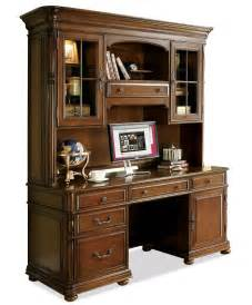 Office Desk Hutch Large Office Computer Desk And Hutch By Riverside
