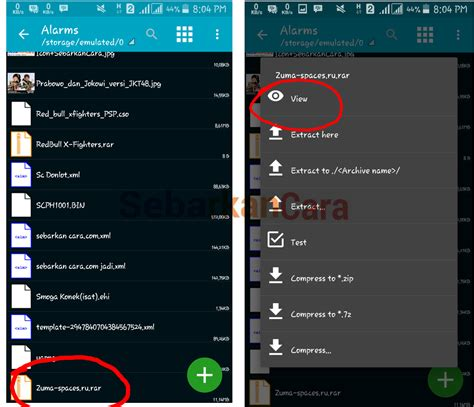 open rar on android how to open and extract file rar zip 7z on android endroid s
