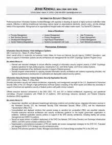 Information Systems Specialist Sle Resume by Sle Cover Letter Director Of Information Technology