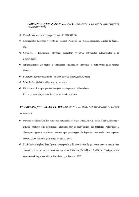 despensa oriental paraguay clasificacion de los impuestos paraguay