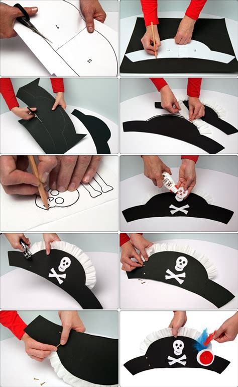 How To Make Paper Hats For Adults - diy pirate hat crafts costume tutorial
