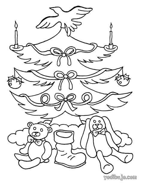 imagenes de arboles de navidad para colorear bonitos dibujos para colorear arbol de navidad con velas es