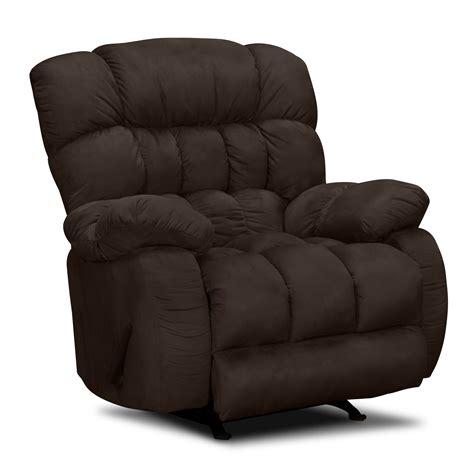 rocker and recliner sonic rocker recliner brown value city furniture