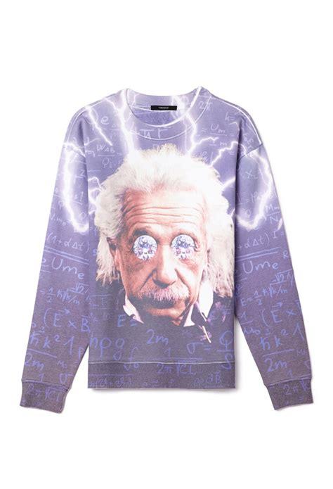 Aes Sweatshirt forever 21 oversized einstein sweatshirt you ve been added