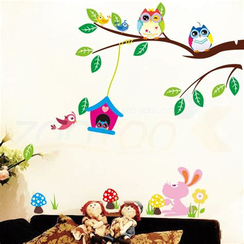 nursery wall decorations removable stickers owl wall stickers for room decorations animal decals